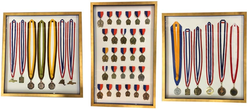 Military Medals In A Shadow Box